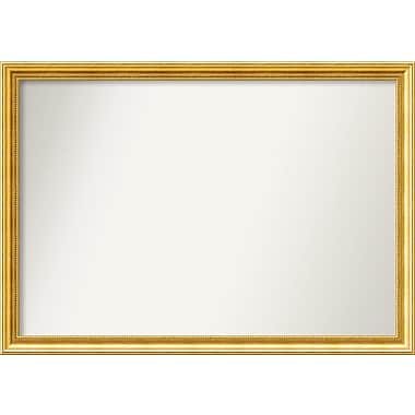 Astoria Grand Accent Wall Mounted Gold Mirror; 31.38'' H x 44.38'' W x 1.25'' D