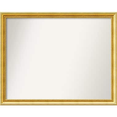 Astoria Grand Accent Wall Mounted Gold Mirror; 31.38'' H x 39.38'' W x 1.25'' D