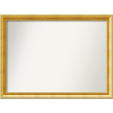 Astoria Grand Accent Wall Mounted Gold Mirror; 26.38'' H x 35.38'' W x 1.25'' D