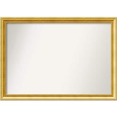 Astoria Grand Accent Wall Mounted Gold Mirror; 27.38'' H x 38.38'' W x 1.25'' D