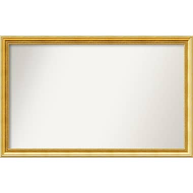 Astoria Grand Accent Wall Mounted Gold Mirror; 27.38'' H x 43.38'' W x 1.25'' D