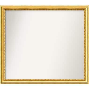 Astoria Grand 31'' Rectangle Gold Mirror; 31.38'' H x 35.38'' W x 1.25'' D