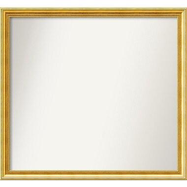 Astoria Grand 31'' Rectangle Gold Mirror; 35.38'' H x 38.38'' W x 1.25'' D