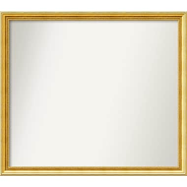 Astoria Grand Accent Wall Mounted Gold Mirror; 36.38'' H x 41.38'' W x 1.25'' D