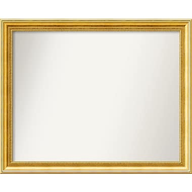 Astoria Grand Accent Wall Mounted Gold Mirror; 25.38'' H x 31.38'' W x 1.25'' D