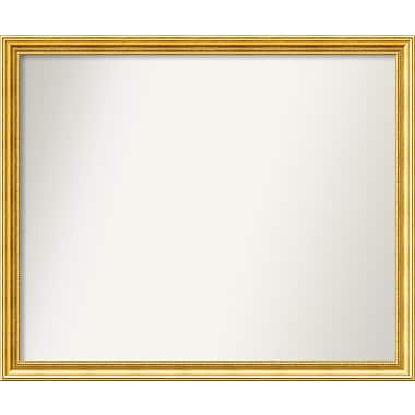 Astoria Grand Accent Wall Mounted Gold Mirror; 35.38'' H x 42.38'' W x 1.25'' D