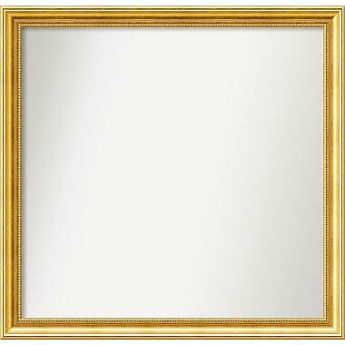 Astoria Grand 31'' Rectangle Gold Mirror; 31.38'' H x 32.38'' W x 1.25'' D