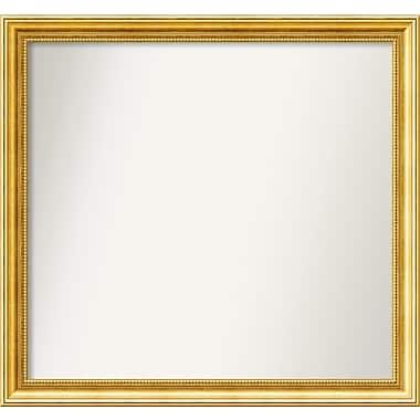Astoria Grand 31'' Rectangle Gold Mirror; 28.38'' H x 30.38'' W x 1.25'' D