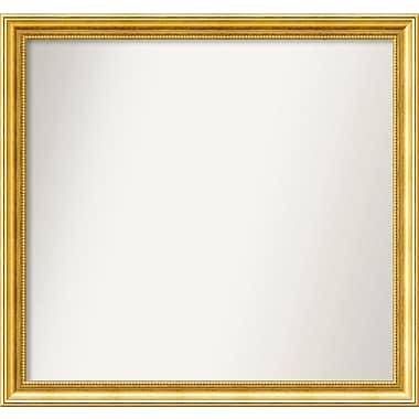 Astoria Grand 31'' Rectangle Gold Mirror; 30.38'' H x 32.38'' W x 1.25'' D