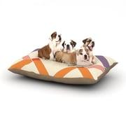 East Urban Home KESS Original 'Ruby' Colorful Geometry Dog Pillow w/ Fleece Cozy Top