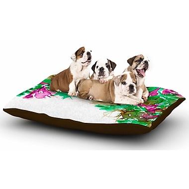 East Urban Home Ebi Emporium 'Floral Cascade 6' Dog Pillow w/ Fleece Cozy Top