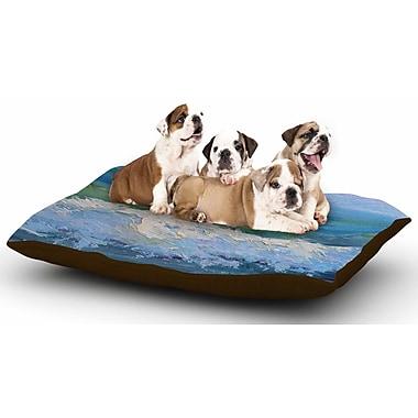 East Urban Home Carol Schiff 'The Pastel Sea' Dog Pillow w/ Fleece Cozy Top