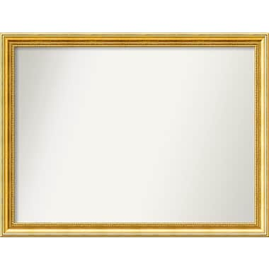 Astoria Grand Accent Wall Mounted Gold Mirror; 28.38'' H x 37.38'' W x 1.25'' D
