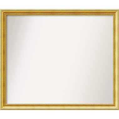 Astoria Grand Accent Wall Mounted Gold Mirror; 33.38'' H x 39.38'' W x 1.25'' D