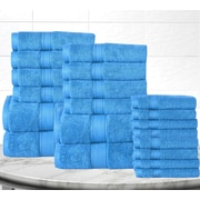 Anew Edit Soft and Luxurious Cotton 20 Piece Towel Set; Sea Blue