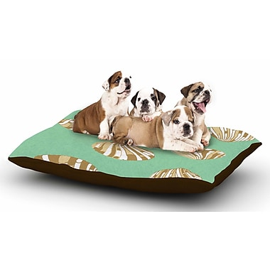 East Urban Home Rosie Brown 'Scallop Shells' Dog Pillow w/ Fleece Cozy Top