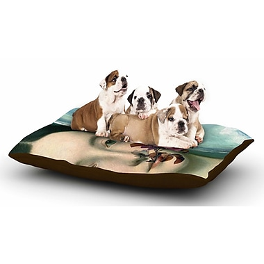 East Urban Home Suzanne Carter 'Emerge' Floral Dog Pillow w/ Fleece Cozy Top