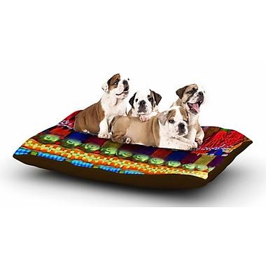 East Urban Home S Seema Z 'Boho Mania' Ethnic Dog Pillow w/ Fleece Cozy Top