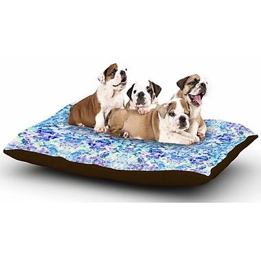 East Urban Home Carolyn Greifeld 'Floral Fantasy Blue Reflection' Dog Pillow w/ Fleece Cozy Top