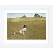 Alcott Hill 'Christina's World' Framed Watercolor Painting Print on Paper; White