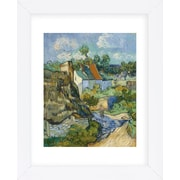 Alcott Hill 'Houses at Auvers' by Vincent Van Gogh Framed Oil Painting Print on Paper; White