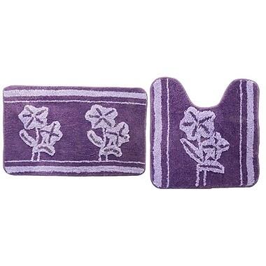 August Grove Denis Purple 2 Piece Bath Mat