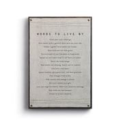 Winston Porter 'Words to Live by' Textual Art on Canvas