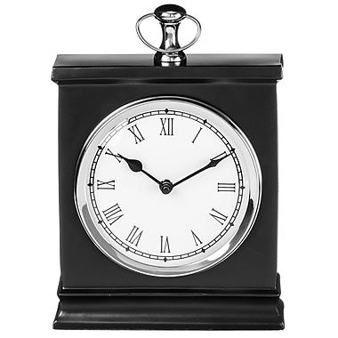 Alcott Hill Black Box Tabletop Clock; 11'' H x 8'' W x 2.5'' D