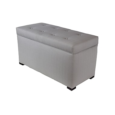 Darby Home Co Hobson Box Storage Ottoman; Silver