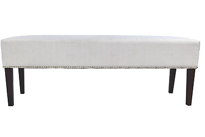 Alcott Hill Woodside Fabric Storage Bedroom Bench; Silver