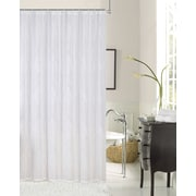 August Grove Traeger Embroidered White Shower Curtain