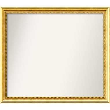 Astoria Grand 31'' Rectangle Gold Mirror; 29.38'' H x 33.38'' W x 1.25'' D