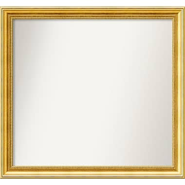 Astoria Grand 31'' Rectangle Gold Mirror; 27.38'' H x 29.38'' W x 1.25'' D