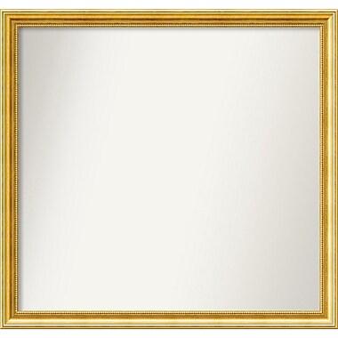 Astoria Grand 31'' Rectangle Gold Mirror; 35.38'' H x 37.38'' W x 1.25'' D