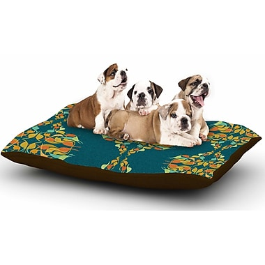East Urban Home Dan Sekanwagi 'Turquoise Feast' Dog Pillow w/ Fleece Cozy Top