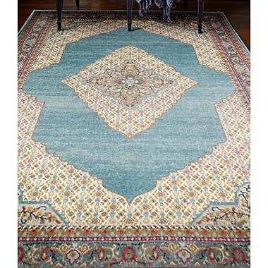 World Menagerie Alperin Teal Area Rug; 3'6'' x 5'6''
