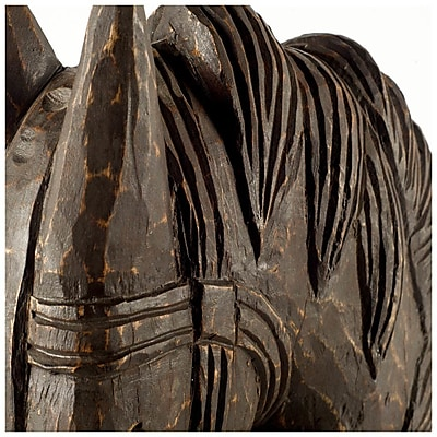 Union Rustic Horse Head Brown Wood Bust