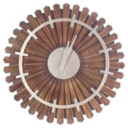 Union Rustic Oversized 30'' Brown Wall Clock