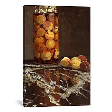 Charlton Home 'Jar of Peaches (Das Pfirsichglas)' by Claude Monet Painting Print on Canvas