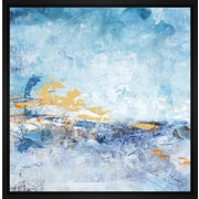 Corrigan Studio 'Blue Impresion II' Framed Print on Wrapped Canvas