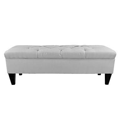 Darby Home Co Hobson Wood Storage Bedroom Bench; Silver