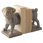 Darby Home Co Dog Cast Iron Bookends; Bronze