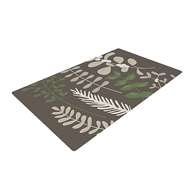 East Urban Home Deck the Hollies Green/Brown Area Rug; 4' x 6'