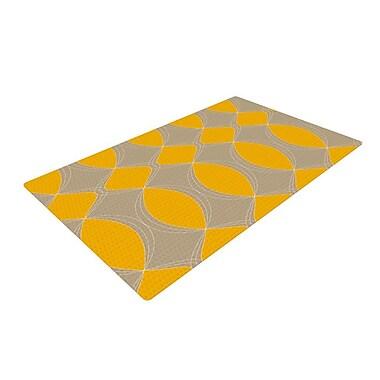 East Urban Home Julia Grifol Geometries Yellow Area Rug; 4' x 6'