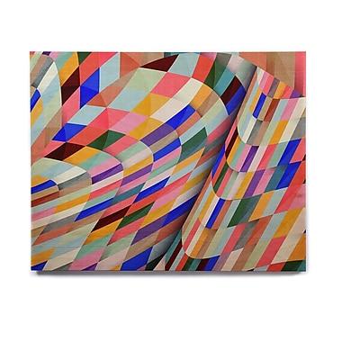 East Urban Home Geometric 'Different' Graphic Art Print on Wood; 8'' H x 10'' W x 1'' D