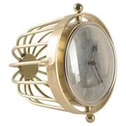Brayden Studio Gold Metal Tabletop Clock; 8'' H x 10'' W x 9'' D