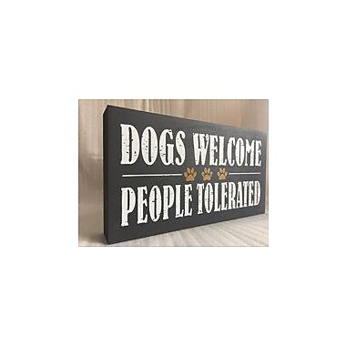 Ebern Designs Matte Dog Expression Sign Wall D cor