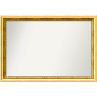 Astoria Grand Accent Wall Mounted Gold Mirror; 24.38'' H x 35.38'' W x 1.25'' D