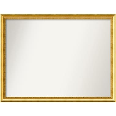 Astoria Grand Accent Wall Mounted Gold Mirror; 32.38'' H x 42.38'' W x 1.25'' D
