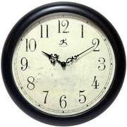 Charlton Home 12'' Antique Black Wall Clock